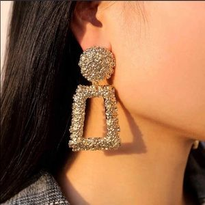 Jewelry - • Lucy • Gold Etched Statement Earrings